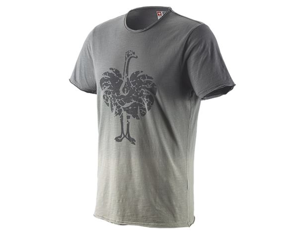 T-Shirts: e.s. T-Shirt workwear ostrich + granit vintage