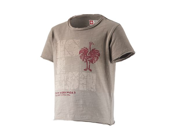 Shirts, Pullover & more: e.s. T-Shirt denim workwear, children's + taupe vintage