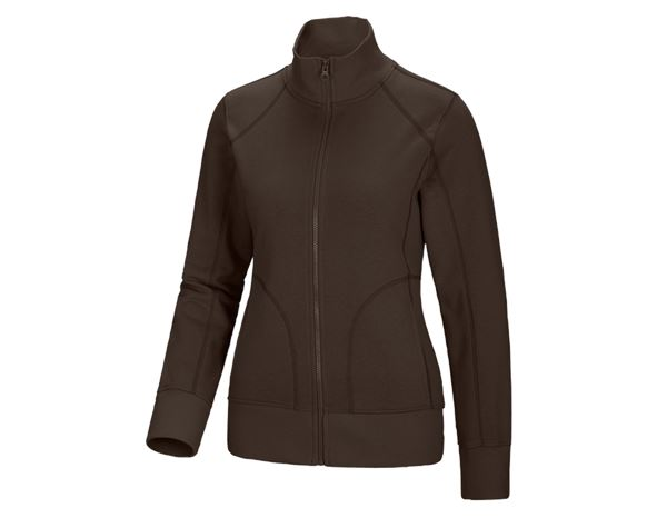 Shirts, Pullover & more: Sweat jacket poly cotton, ladies' + chestnut