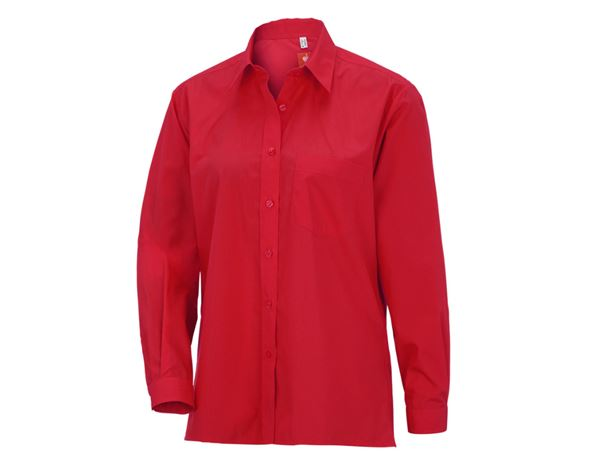 Shirts & Co.: e.s. Damenbluse, langarm + rot