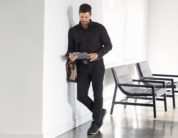 Shirts & Co.: e.s. Business Hemd cotton stretch, comfort fit + schwarz 2