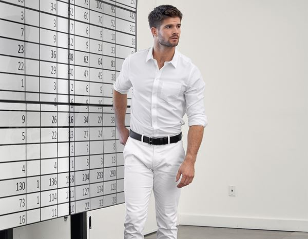 Shirts, Pullover & more: e.s. Business shirt cotton stretch, slim fit + white 2