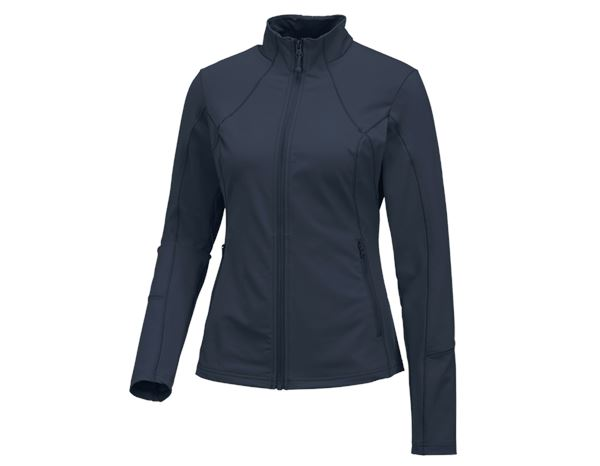 Shirts & Co.: e.s. Funktions Sweatjacke solid, Damen + pazifik