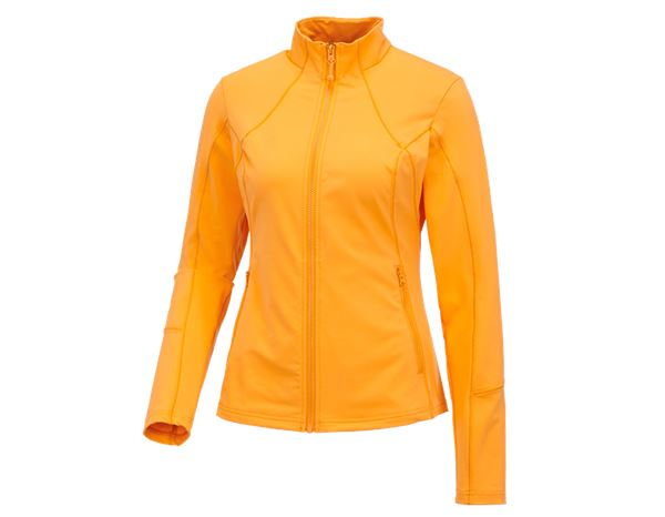 Shirts & Co.: e.s. Funktions Sweatjacke solid, Damen + hellorange