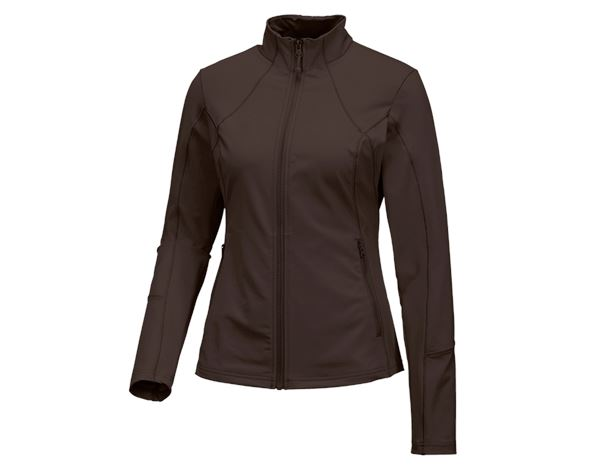 Jacken: e.s. Funktions Sweatjacke solid, Damen + kastanie