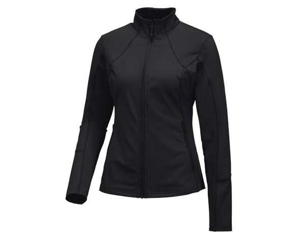 Shirts & Co.: e.s. Funktions Sweatjacke solid, Damen + schwarz