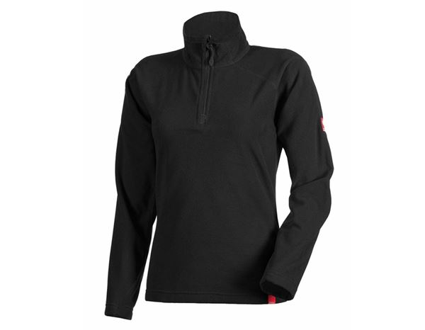 Shirts, Pullover & more: Ladies' Microfleece troyer dryplexx® micro + black