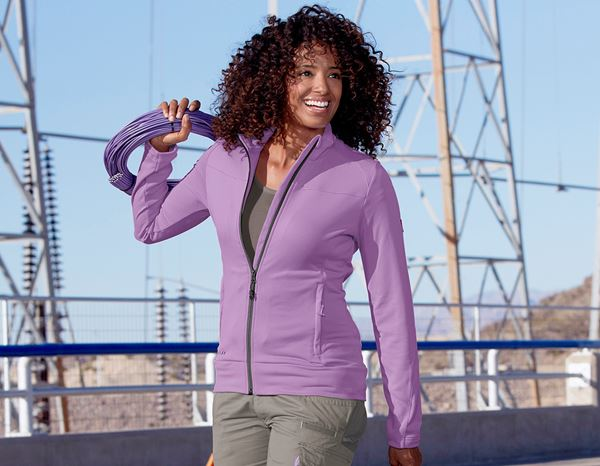 Work Jackets: FIBERTWIN®clima-pro jacket e.s.motion 2020,ladies' + lavender/stone