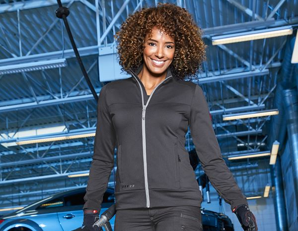 Work Jackets: FIBERTWIN®clima-pro jacket e.s.motion 2020,ladies' + anthracite/platinum