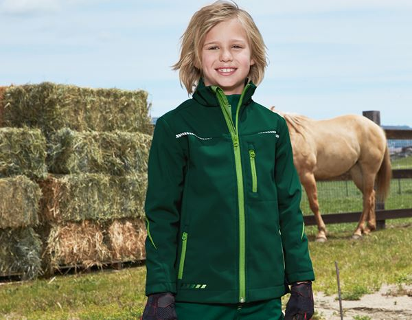 Jackets: Softshell jacket e.s.motion 2020, children's + green/seagreen