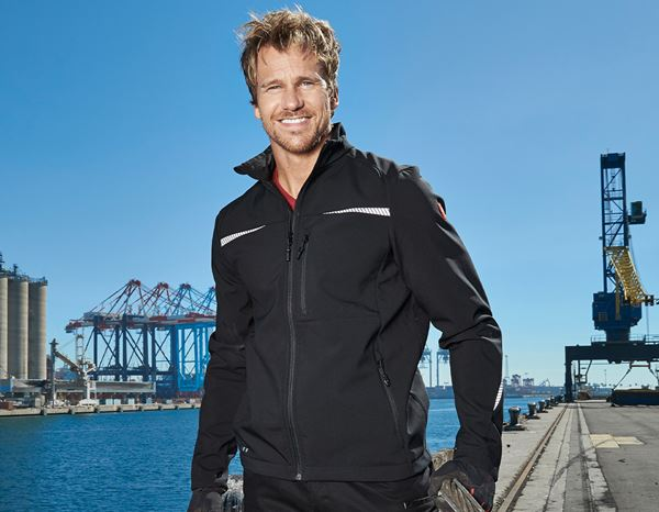 Work Jackets: Softshell jacket e.s.motion 2020 + black