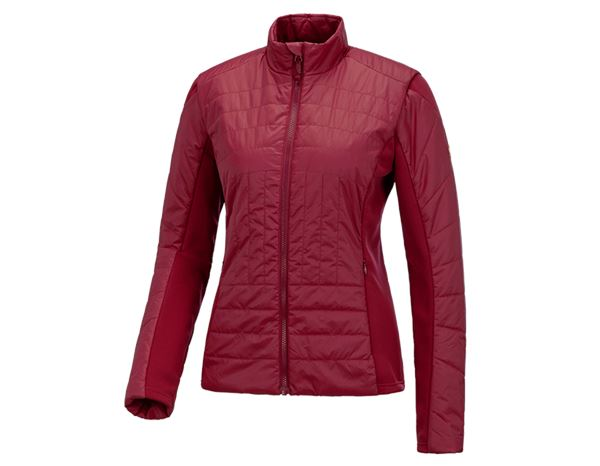 Work Jackets: e.s. Function quilted jacket thermo stretch,ladies + ruby