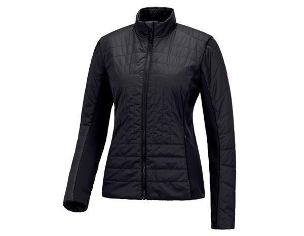 Work Jackets: e.s. Function quilted jacket thermo stretch,ladies + black