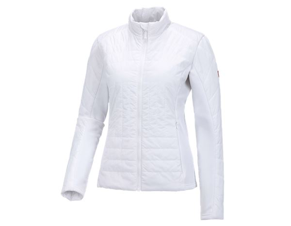 Jacken: e.s. Funktions Steppjacke thermo stretch, Damen + weiß