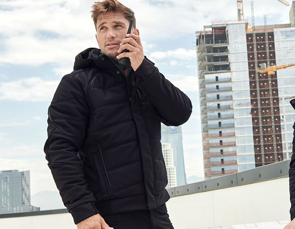 Work Jackets: Winter softshell jacket e.s.vision + black