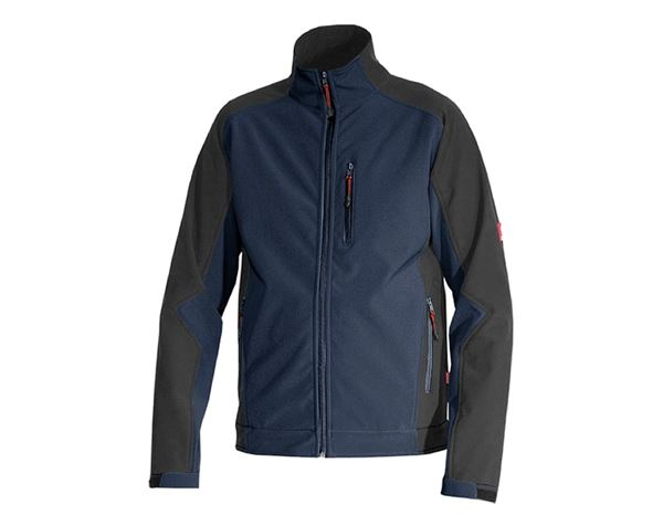 Work Jackets: Softshell Jacket dryplexx® softlight + navy/black