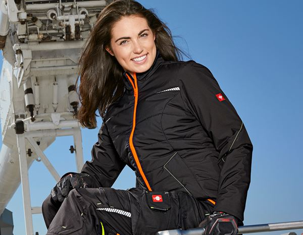 Jacken: Windbreaker e.s.motion 2020, Damen + schwarz/warngelb/warnorange 2