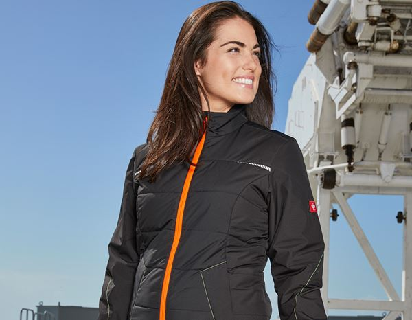 Jacken: Windbreaker e.s.motion 2020, Damen + schwarz/warngelb/warnorange 1