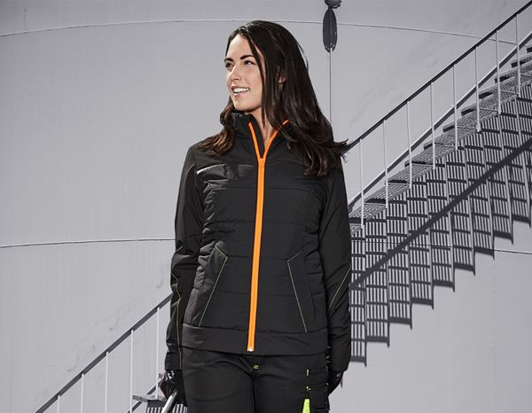 Jacken: Windbreaker e.s.motion 2020, Damen + schwarz/warngelb/warnorange