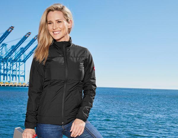 Jacken: Windbreaker e.s.motion 2020, Damen + schwarz/anthrazit