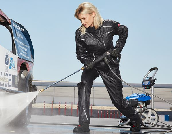 Work Jackets: Rain jacket e.s.motion 2020 superflex, ladies + black/platinum 1