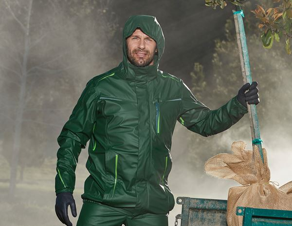 Rain Jackets: Rain jacket e.s.motion 2020 superflex + green/seagreen
