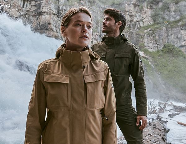 Jacken: Stunt'n'Media Utility Waterproof Jacket, Ladies' + camel