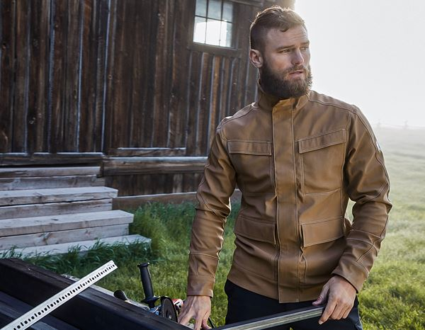 Men: Stunt'n'Media Pyro Pilot Jacket + camel