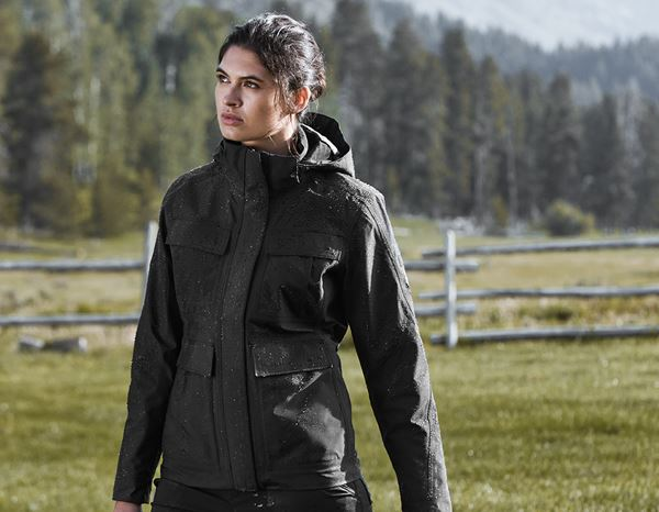 Women: Stunt'n'Media Pyro Waterproof Jacket, Ladies' + black