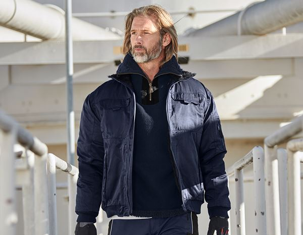 Work Jackets: Pilot Jacket Dakota II + navy blue