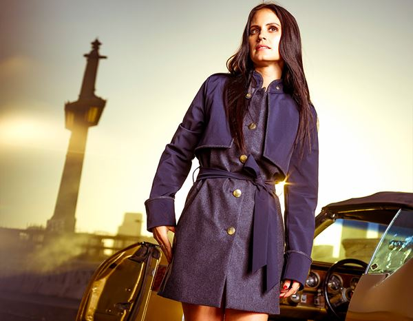 workwear couture: Iconic Trench + darkblue