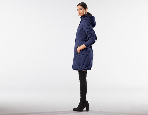 workwear couture: Long Down Jacket + darkblue