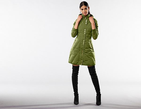 workwear couture: Long Down Jacket + forest