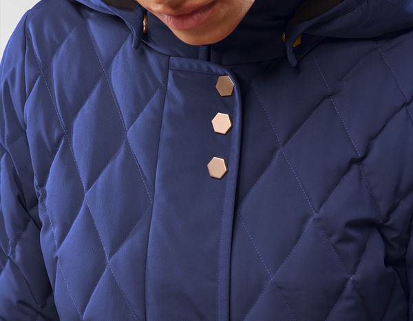 workwear couture: Long Down Jacket + darkblue 1
