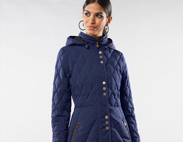 workwear couture: Long Down Jacket + darkblue 2