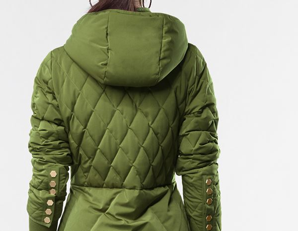 workwear couture: Long Down Jacket + forest 1