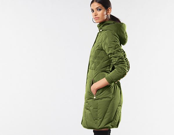 workwear couture: Long Down Jacket + forest 2