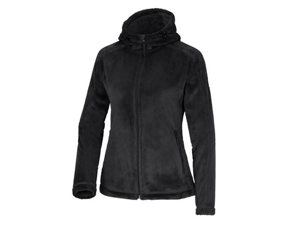 Work Jackets: e.s. Zip jacket Highloft, ladies' + black