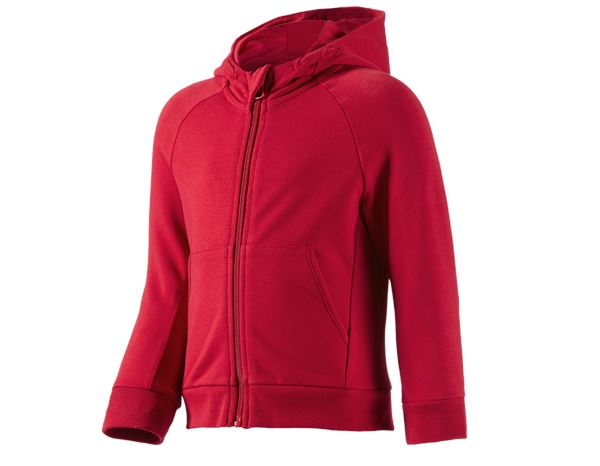 Shirts, Pullover & more: e.s. Hoody sweatjacket cotton stretch, children's + fiery red