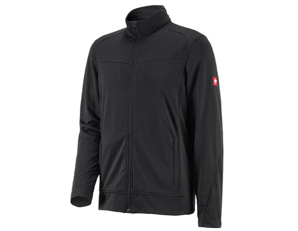 Pullover: e.s. Jacke climacell + schwarz