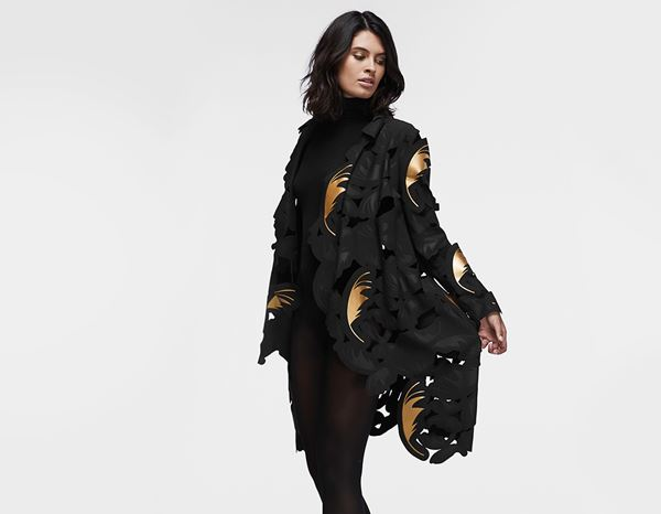workwear couture: Signature Coat + black/gold