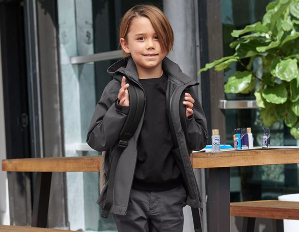 Jackets: e.s. Functional jacket CI, children's + anthracite