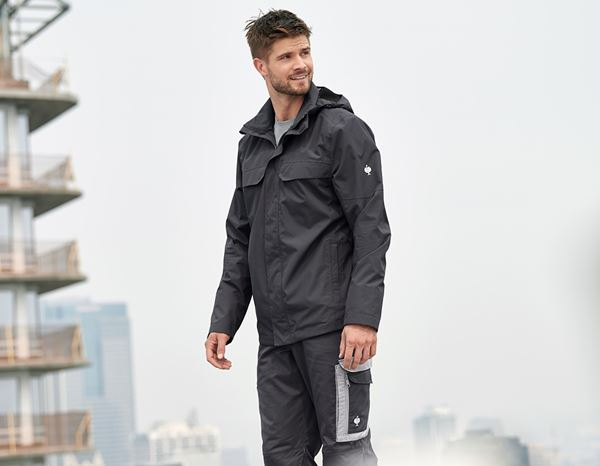 Work Jackets: Rain jacket e.s.concrete + anthracite 1