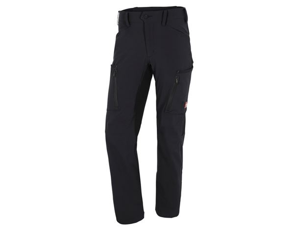 Work Trousers: Cargo trousers e.s.vision stretch, men's + black