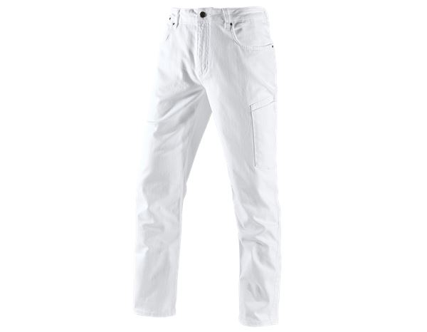 Work Trousers: e.s. 7-pocket jeans + white