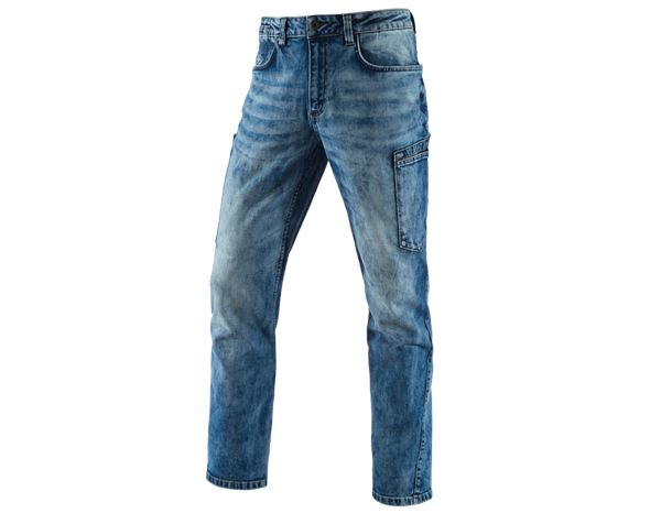 Hosen: e.s. 7-Pocket-Jeans + lightwashed