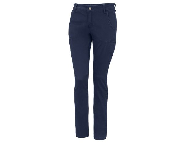 Work Trousers: e.s. Trousers  Chino, ladies' + navy