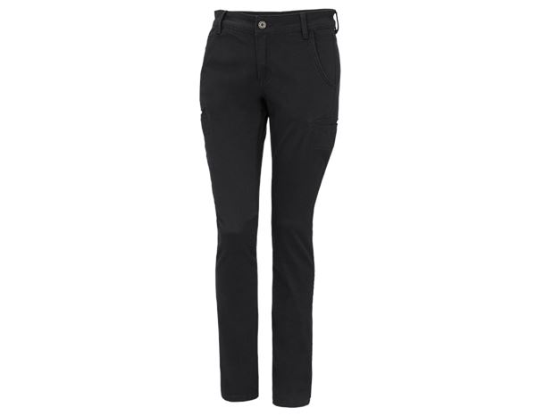 Work Trousers: e.s. Trousers  Chino, ladies' + black