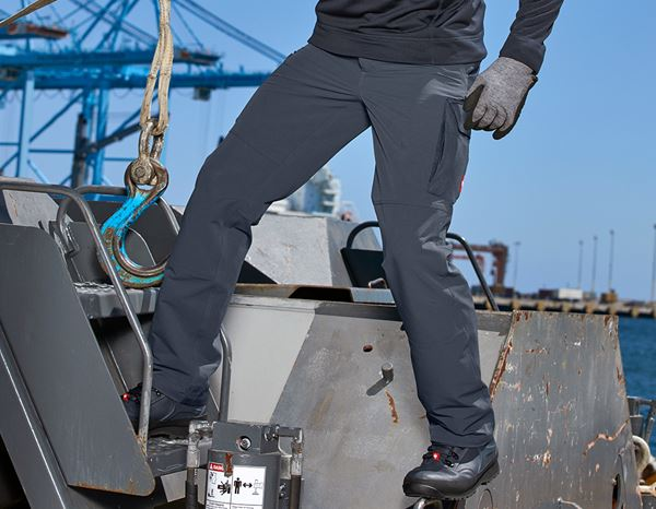 Work Trousers: Functional cargo trousers e.s.dynashield solid + pacific 1