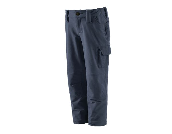 Trousers / Shorts: Funct.cargo trousers e.s.dynashield solid,child. + pacific